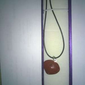 Gemstone Heart Shaped Pendant On A Cord Necklace