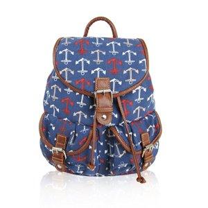 Canvas ANCHOR Print -Design Retro Classic Backpack