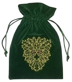 Green Man Tarot Bag Luxury Velvet 180 X 130Mm