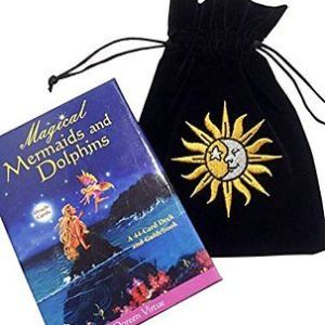 Magical Mermaids and Dolphins Oracle Cards Doreen Virtue with Luxury Velvet Bag