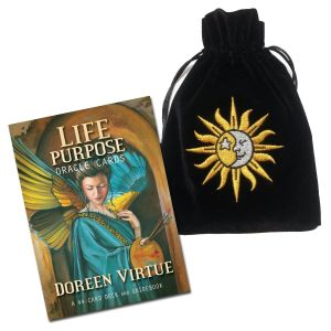 Life Purpose Oracle Cards with Sun & Moon Velvet Bag