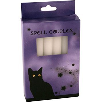 Pack of 12 White Spell Candles. Candle propertiesENLIGHTENMENT,HEALING & CLEANSING