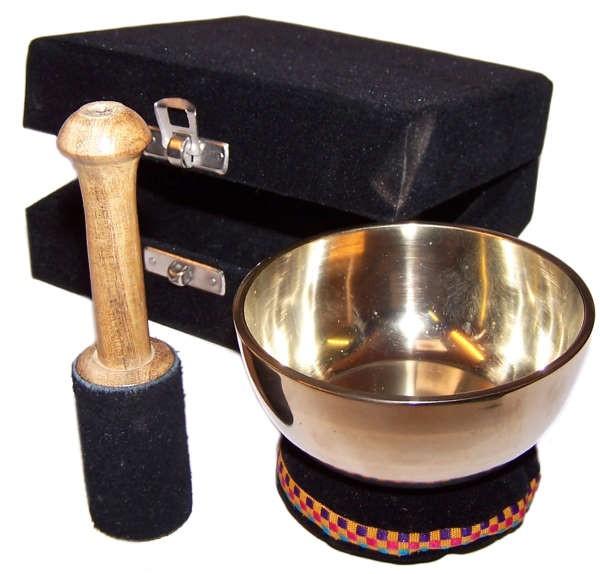 Brass Singing Bowl - Gift Set - Approx 9cm