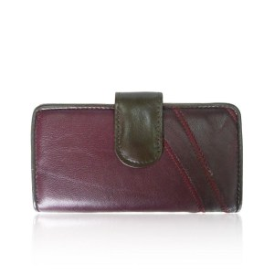 Real Leather Purse Burgundy
