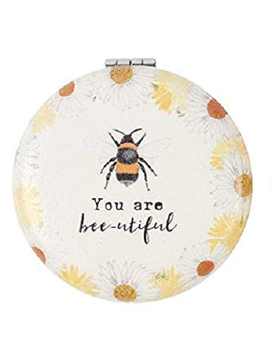 Compact Mirror BEE - Make-up Pocket Mirror - You Are Bee-utiful