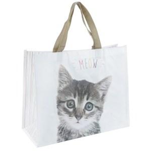 Cute Cat Design Durable Reusable Shopping Bag
