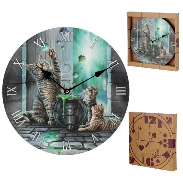 Decorative Cat Hubble Bubble Lisa Parker Wall Clock