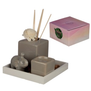 Eden Aroma Set - Elephant Reed Diffuser & Candle Holder