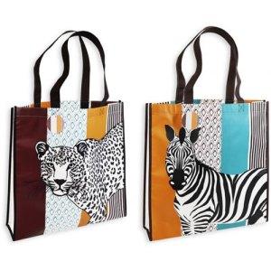 LEOPARD/ZEBRA REUSABLE SHOPPING BAG