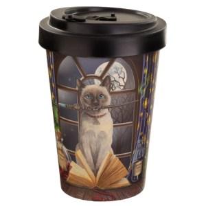 Bamboo Composite Hocus Pocus Lisa Parker Cat Travel Mug