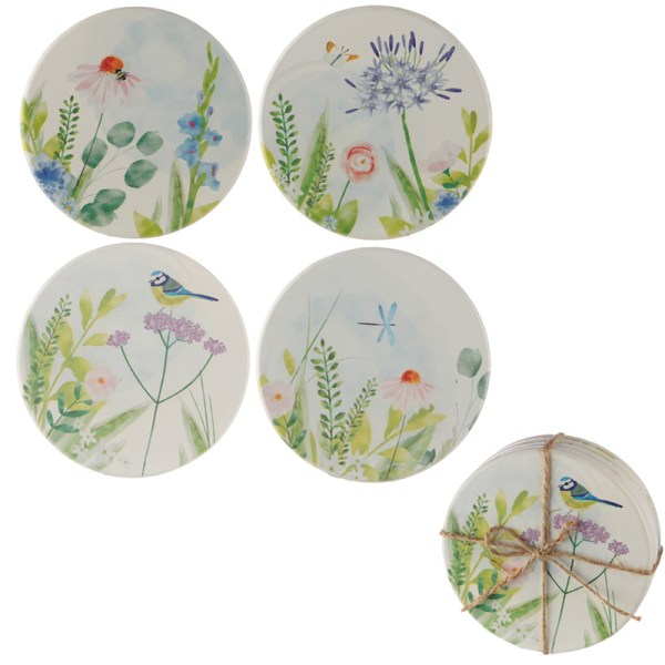 Set of 4 Coasters - Botanical Garden Design