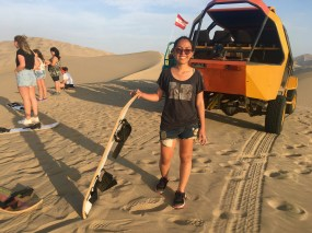 sandboarding and buggy ride in huacachina