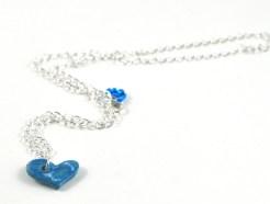 ceramic heart on silver chain
