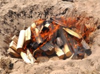 Pit Firing on the Beach at the Lorne Sculpture Biennale ...