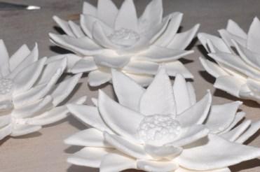 Freshly made lotus flowers