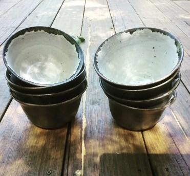 Dawn Whitehand ceramic bowl set