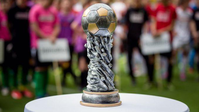 Um diesen Pokal dreht sich am kommenden Sonntag im DDV Stadion alles. Foto: Michael Schmidt