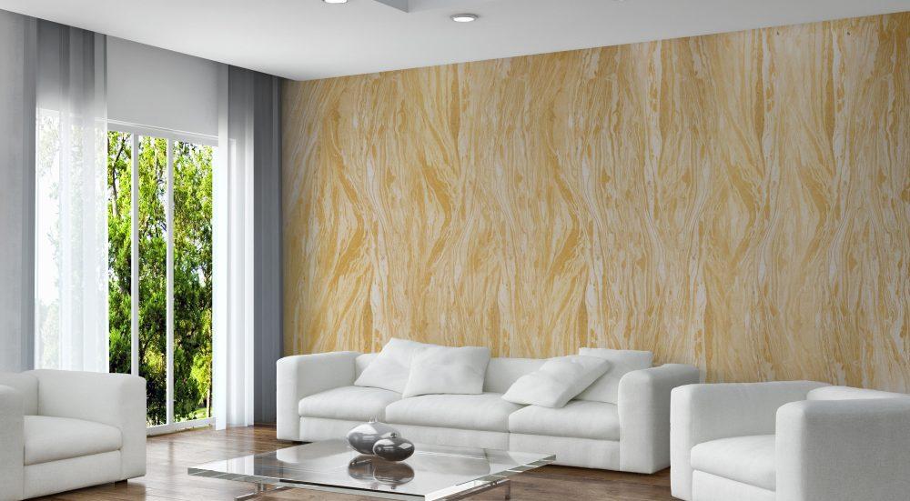 Traumhafte raumwirkung dank sandsteintapete dawo for Raumgestaltung stein dresden