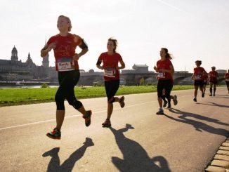 Morgen führt der 10. REWE-Lauf durch Dresden. Foto: PR