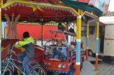 Jonathan, Josia und Valentin fahren mit dem Kinderkarussel. Foto: Oliver Goldberg