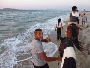 Hoch zu Ross am Meeresufer der griechischen Insel Kos Foto: Kornelia Doren
