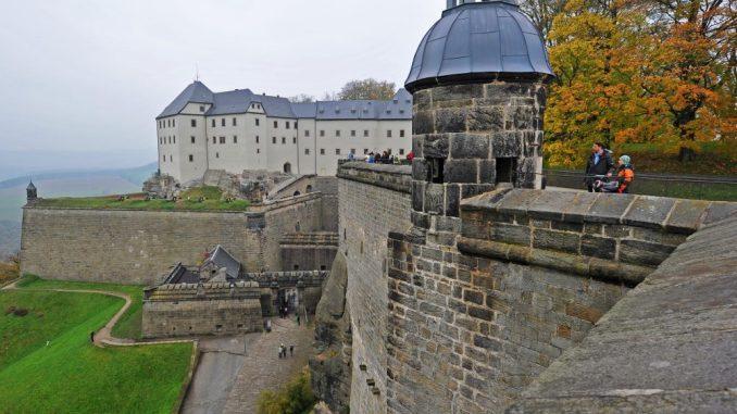 Festung Königstein in Sachsen. Foto: Matthias Hiekel/Archiv