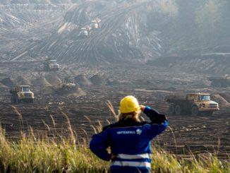 Der Ex-Tagebau bei Cottbus ist zu sehen. Foto: Patrick Pleul/Archiv