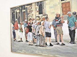Wie Dresdner Maler ihre Mitbürger sehen, zeigte der zweite Teil der Schau. Foto: Una Giesecke