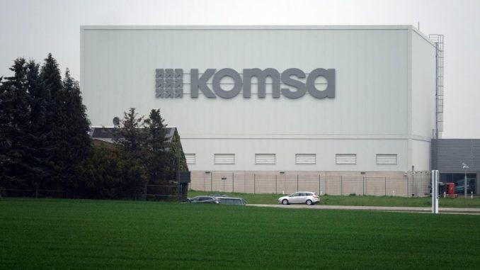 Komsa AG in Hartmannsdorf. Foto: Sebastian Willnow/Archiv