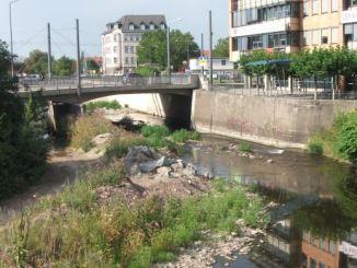 Am Weißeritzknick in Löbtau wird ab 3. August der Flutschutz verbessert. Foto: Stadtverwaltung Dresden