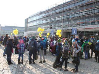In der vergangenen Woche kamen die Schüler am neuen Schulcampus an. Foto: Landeshauptstadt Dresden