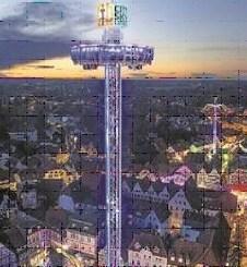 Der höchste und modernste mobile Aussichtturm der Welt soll eine der Attraktionen des diesjährigen Dresdner Stadtfestes Canaletto werden. (Foto: PR)