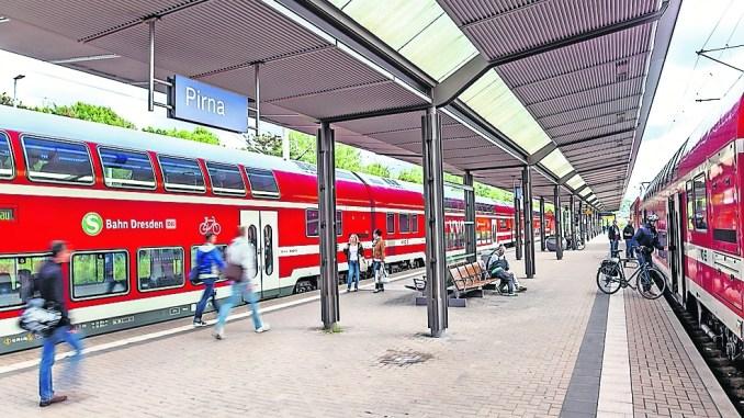 Kaum noch Wartezeit: S-Bahn verdichtet den Fahrplan nach Pirna. Foto: Neumann