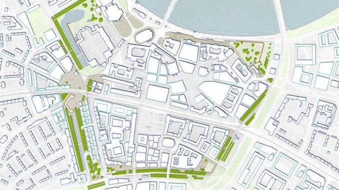 So soll sich der Westliche Promenadenring in Dresden entwickeln. Foto: Amt für Geodaten und Kataster und Stadtplanungsamt, Rahmenplan Promenadenring