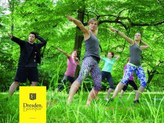 Bewegungsmangel gemeinsam entgegen wirken: Bei Fit im Park in Dresden. Foto: Landeshauptstadt Dresden