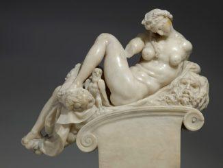 Giambologna, nach Michelangelo: Die Nacht, Florenz vor 1574, Alabaster, Skulpturensammlung Foto: SKD, Hans-Peter Klut