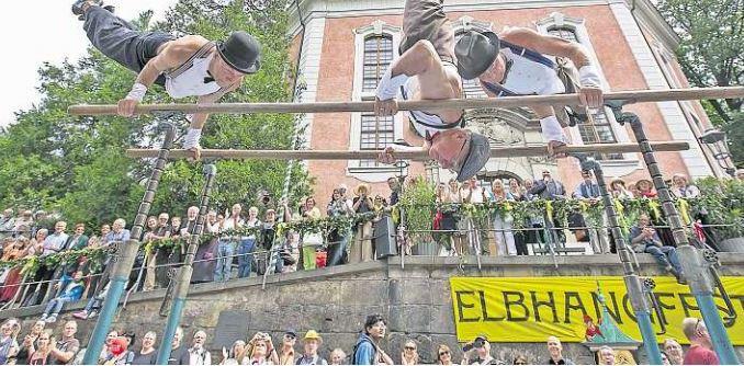 Hoch hinaus geht es alle Jahre wieder zum Elbhangfest. Foto: Steffen Füssel