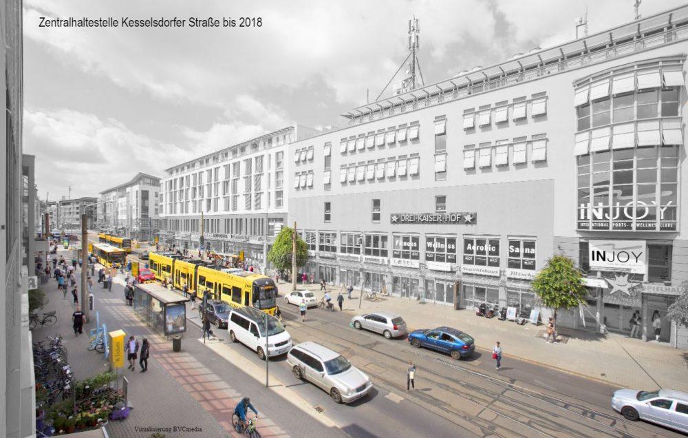 Neubau der Zentralhaltestelle Kesselsdorfer Straße beginnt