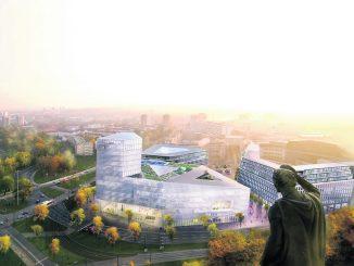 Das neue Verwaltungsgebäude soll etwa 170 Millionen Euro kosten. Dank sprudelnder Einkommenssteuer und Gewerbesteuer lässt sich das realisieren. Grafik: Landeshauptstadt Dresden