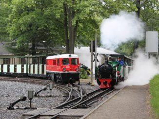 Am Wochenende kann man die Dresdner Parkeisenbahn erleben. Foto: PR
