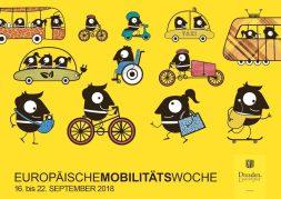 Mit diesem witzigen Motiv wirbt die Landeshauptstadt Dresden um möglichst viele Teilnehmer für das Programm der diesjährigen Europäischen Mobilitätswoche. (Foto: LHD)
