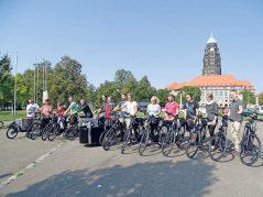 Auch die Landeshauptstadt Dresden fährt E-Bike. (Foto: LHD)