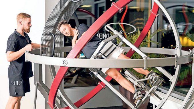 Neueste Technologien helfen dabei, seinen Rücken zu trainieren. (Foto: PR)