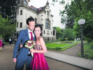 Auch Kristina und Stefan Auschner haben im Standesamt an der Goetheallee geheiratet.