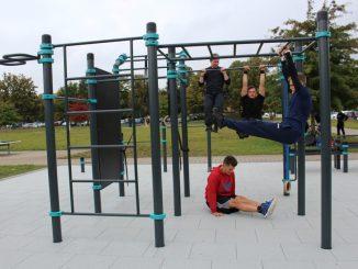 Neue Fitnessanlage im Sportpark Ostra