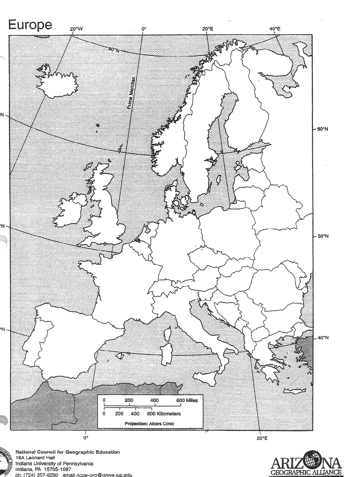 European Countries And Capitals Worksheet
