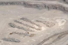 Aerial View of Rock Quarry