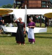 Spectators at the airshow