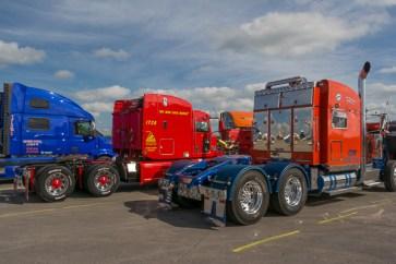 Trucks entering the Jamboree Truck Beauty Show