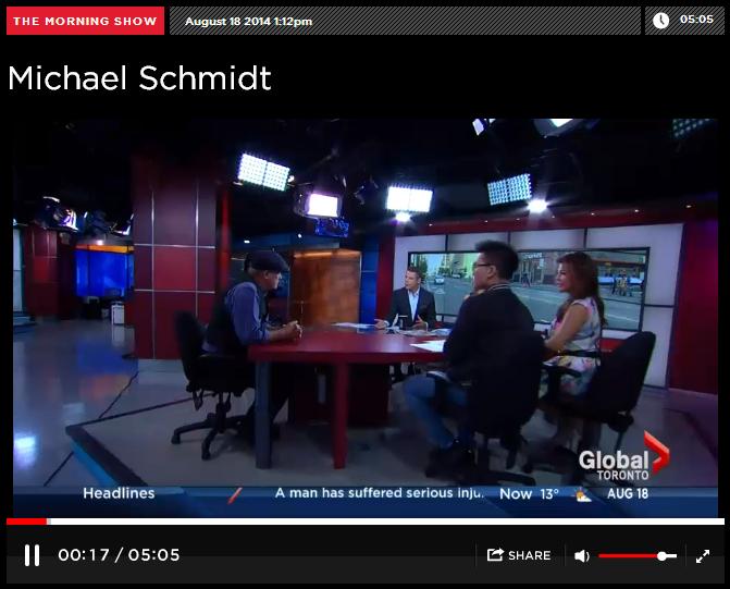 Morning Show guest Michael Schmidt